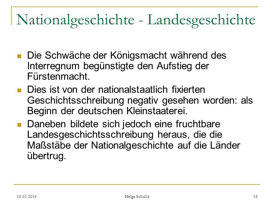 Nationalgeschichte - Landesgeschichte