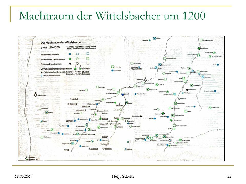 Machtraum der Wittelsbacher um 1200