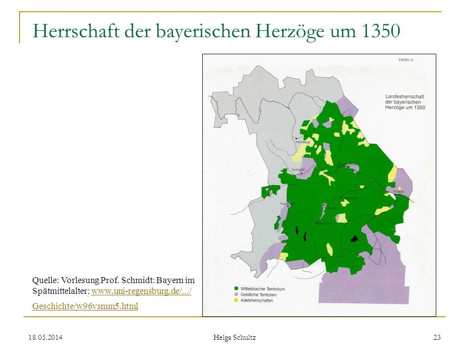 Herrschaft der bayerischen Herzöge um 1350