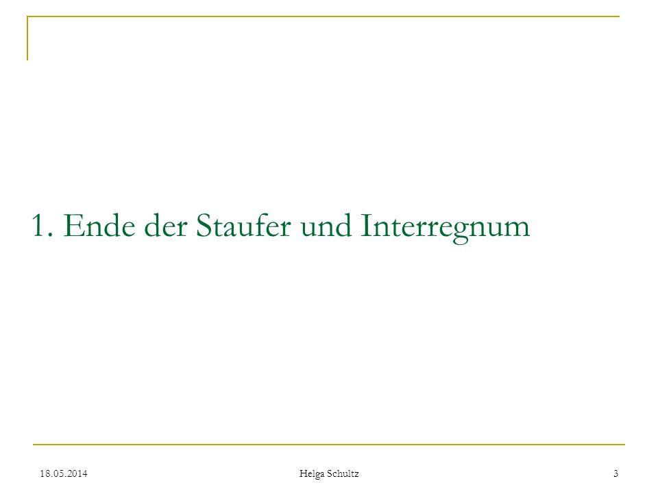 1. Ende der Staufer und Interregnum