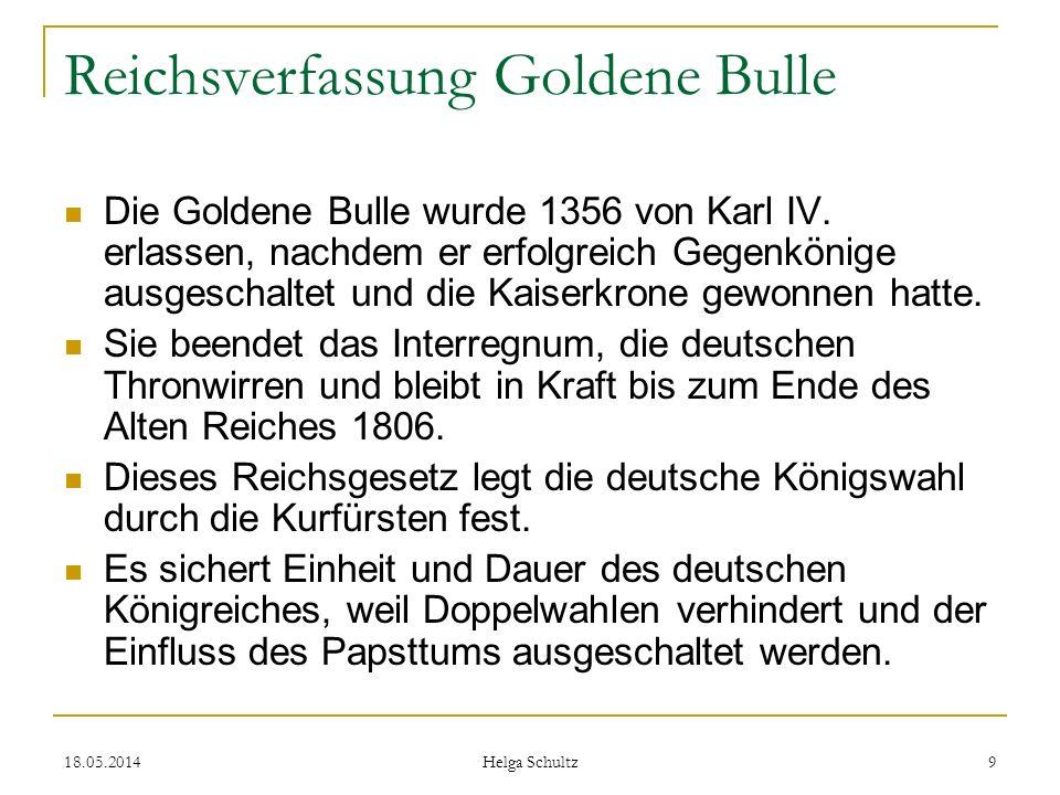 Reichsverfassung Goldene Bulle