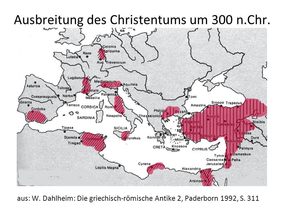 Ausbreitung des Christentums um 300 n.Chr.