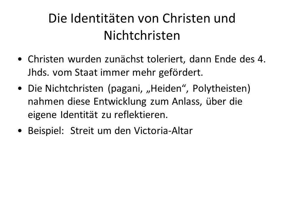 Die Identitäten von Christen und Nichtchristen