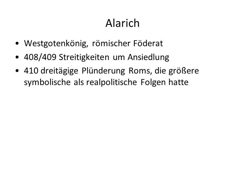 Alarich Westgotenkönig, römischer Föderat