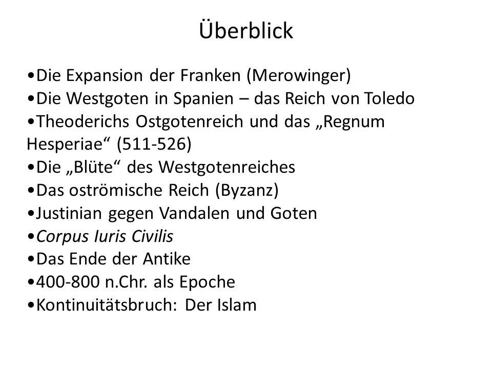 Überblick Die Expansion der Franken (Merowinger)