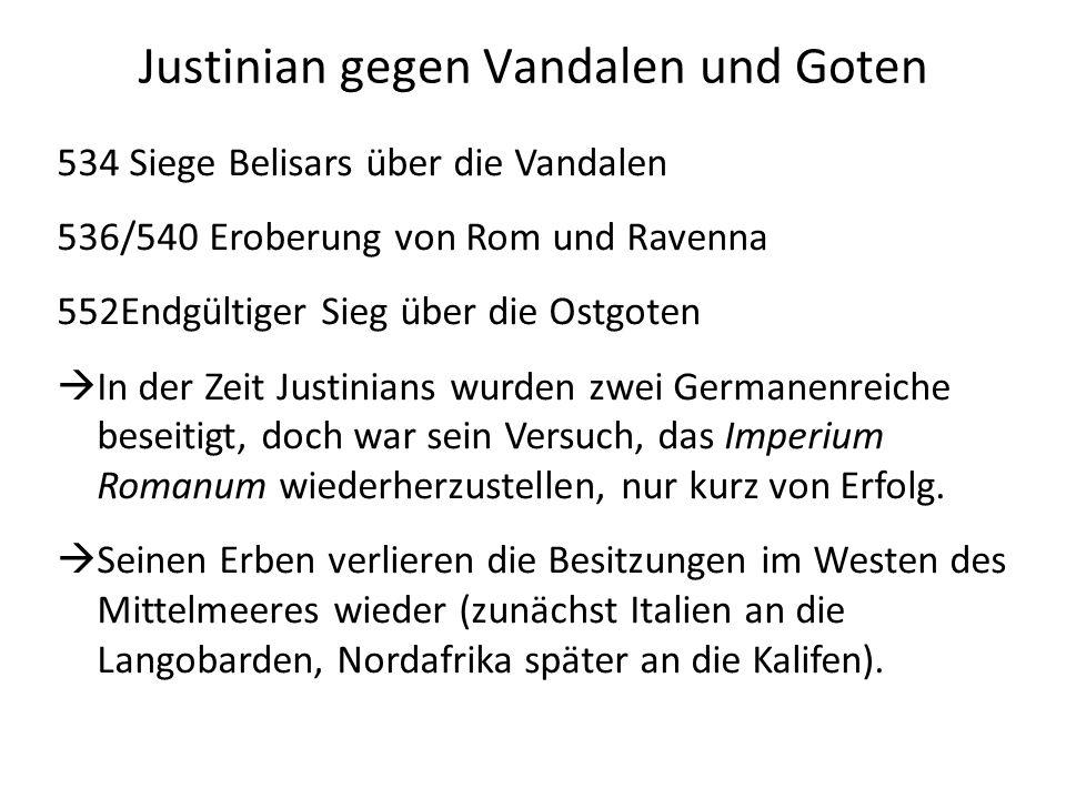 Justinian gegen Vandalen und Goten