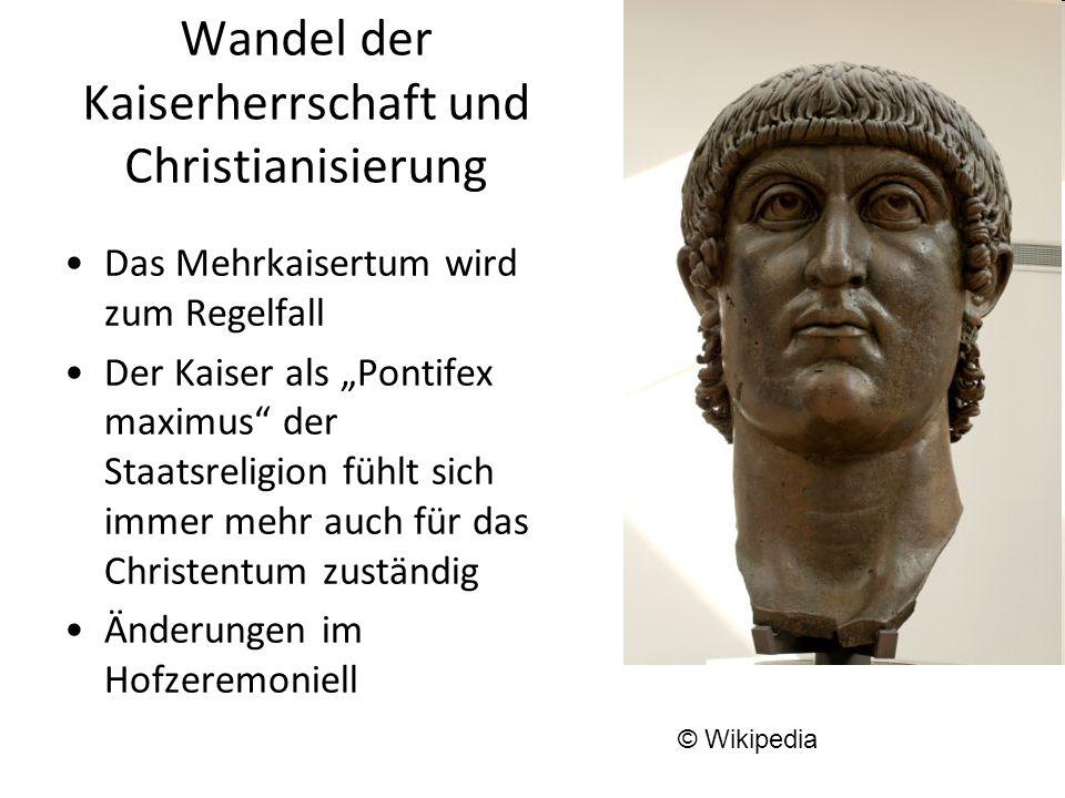 Wandel der Kaiserherrschaft und Christianisierung