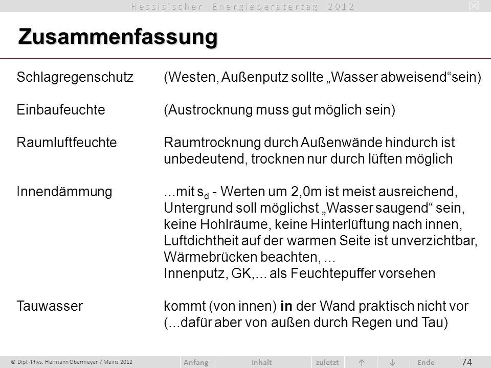 """Zusammenfassung Schlagregenschutz (Westen, Außenputz sollte """"Wasser abweisend sein) Einbaufeuchte (Austrocknung muss gut möglich sein)"""