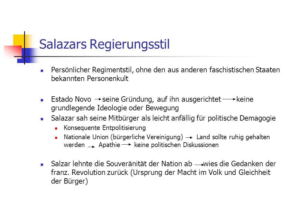 Salazars Regierungsstil