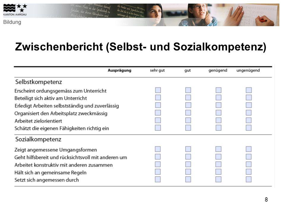 Zwischenbericht (Selbst- und Sozialkompetenz)