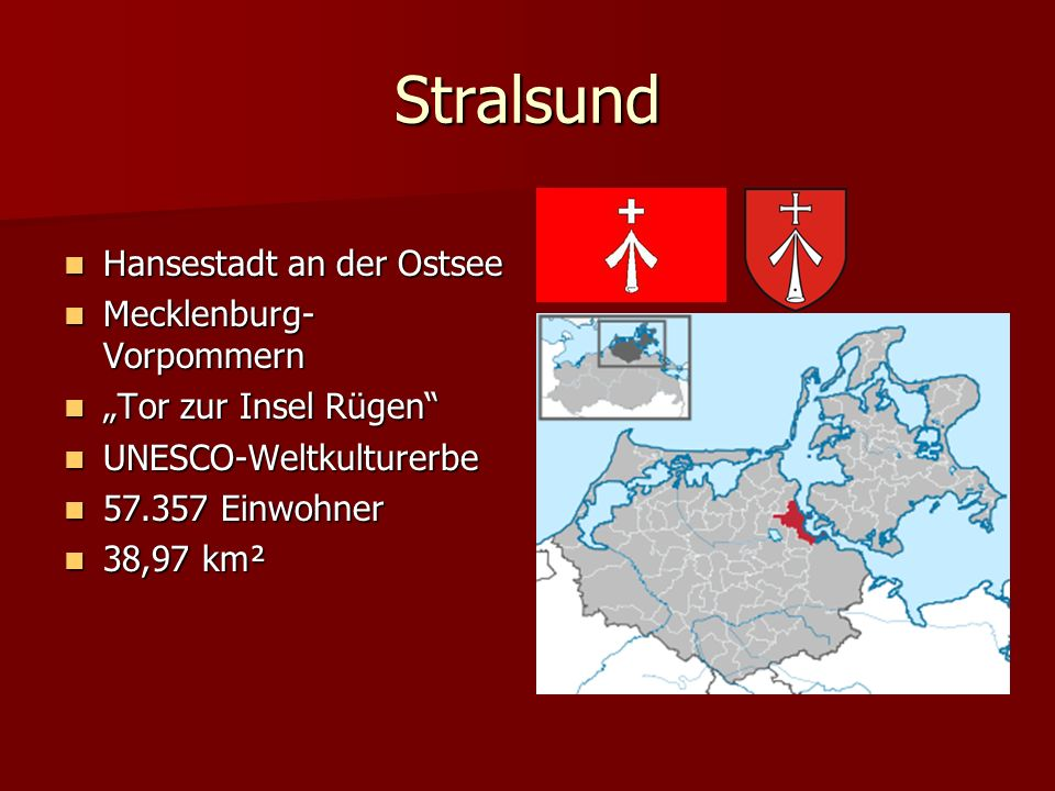 Stralsund Hansestadt an der Ostsee Mecklenburg-Vorpommern