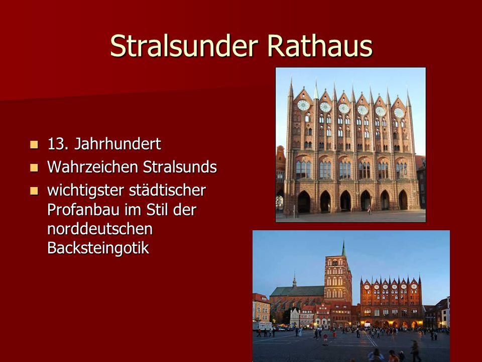Stralsunder Rathaus 13. Jahrhundert Wahrzeichen Stralsunds