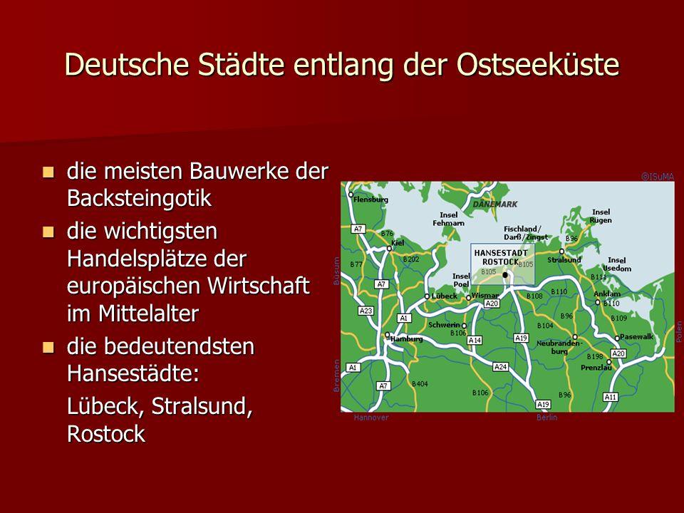 Deutsche Städte entlang der Ostseeküste