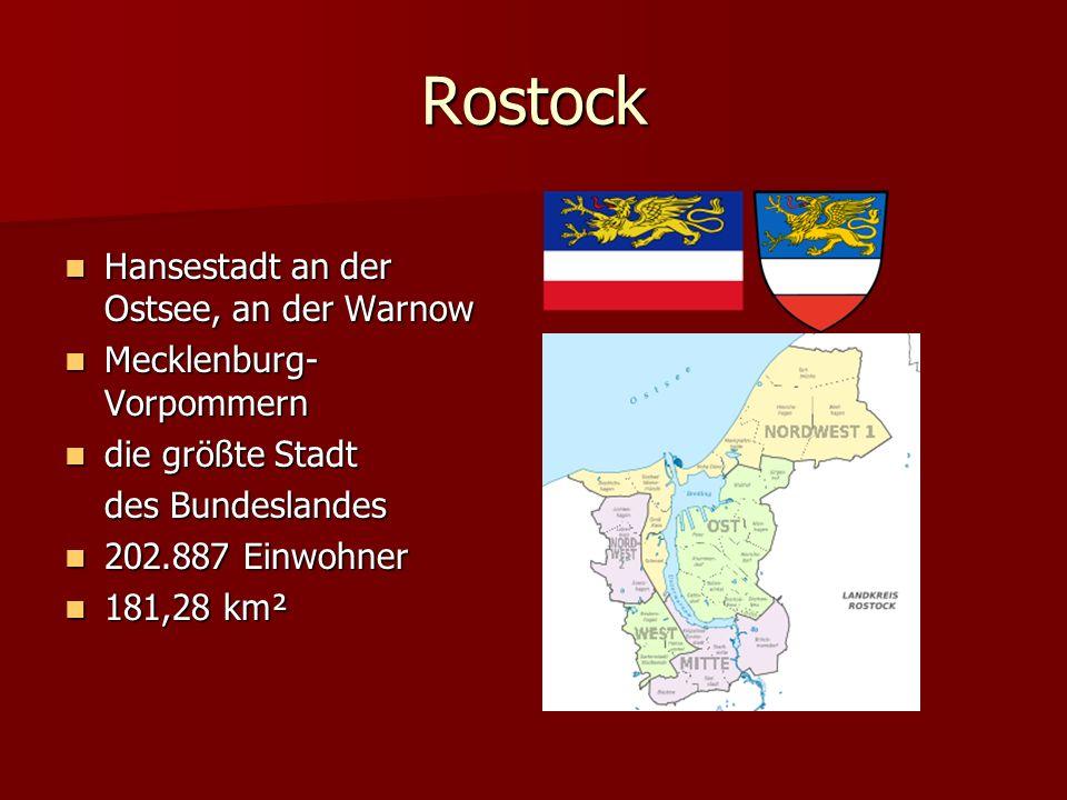 Rostock Hansestadt an der Ostsee, an der Warnow Mecklenburg-Vorpommern