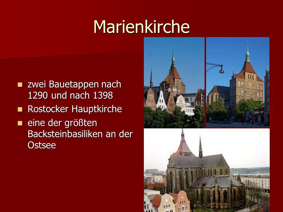 Marienkirche zwei Bauetappen nach 1290 und nach 1398