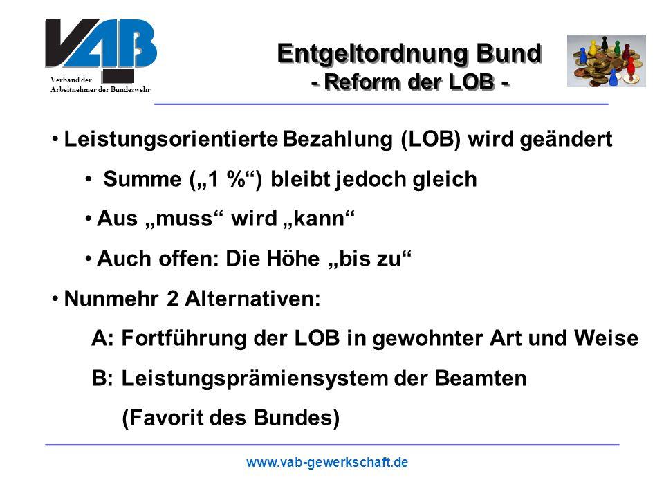 Entgeltordnung Bund 17 - Reform der LOB -
