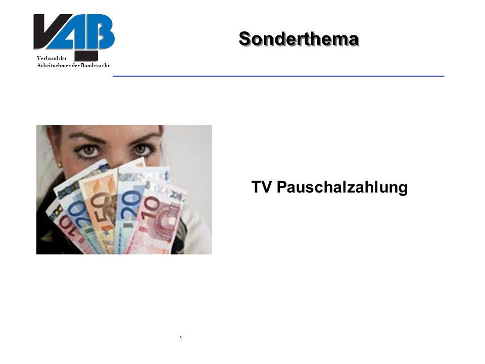 Sonderthema TV Pauschalzahlung www.vab-gewerkschaft.de 24