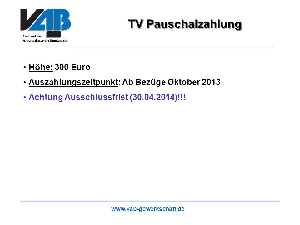 TV Pauschalzahlung 26 Höhe: 300 Euro