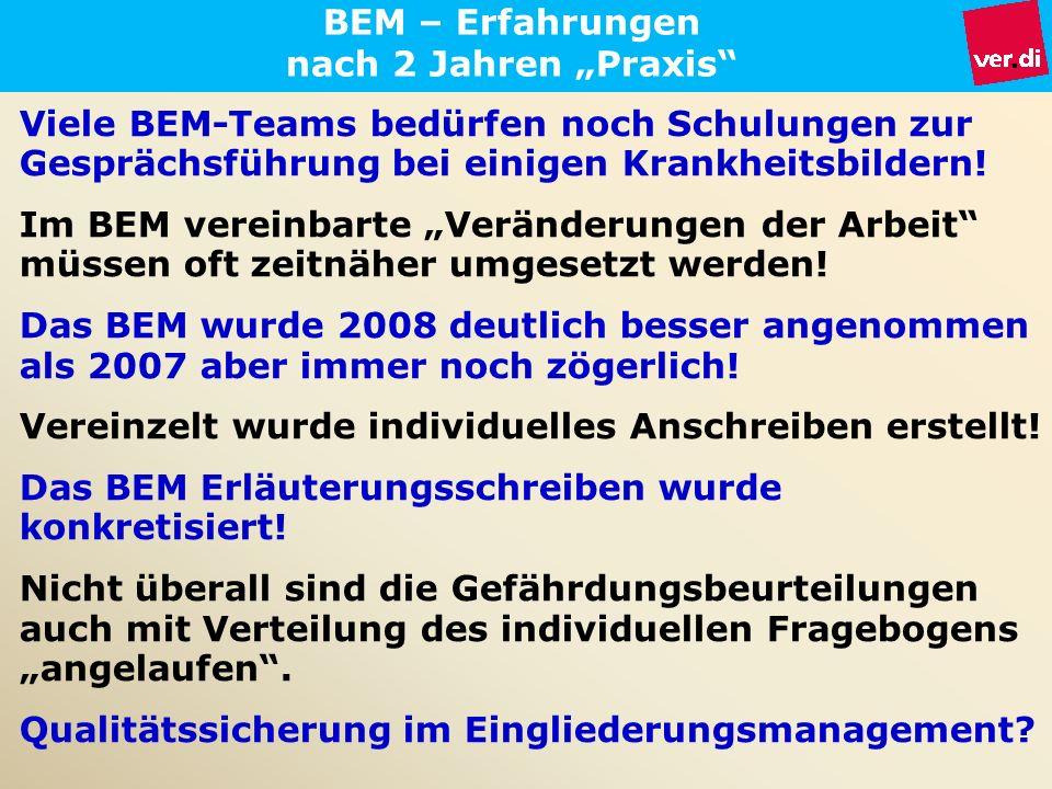 """BEM – Erfahrungen nach 2 Jahren """"Praxis"""