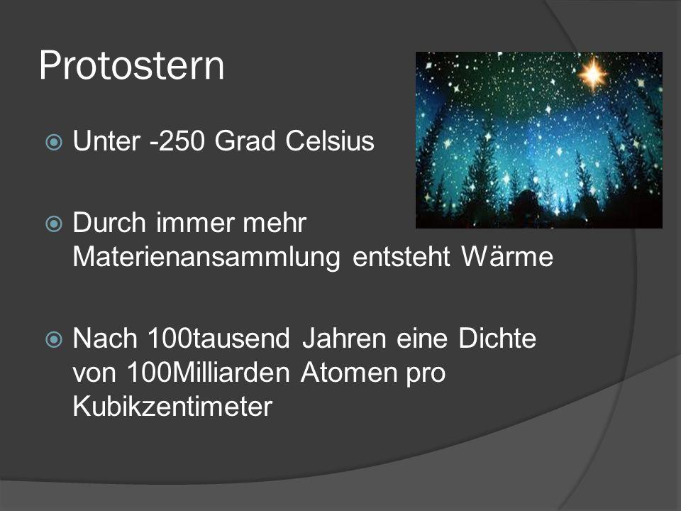 Protostern Unter -250 Grad Celsius