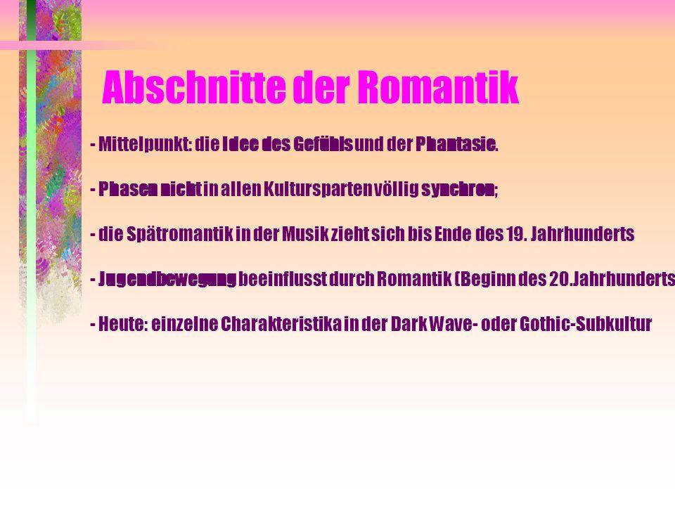 Abschnitte der Romantik