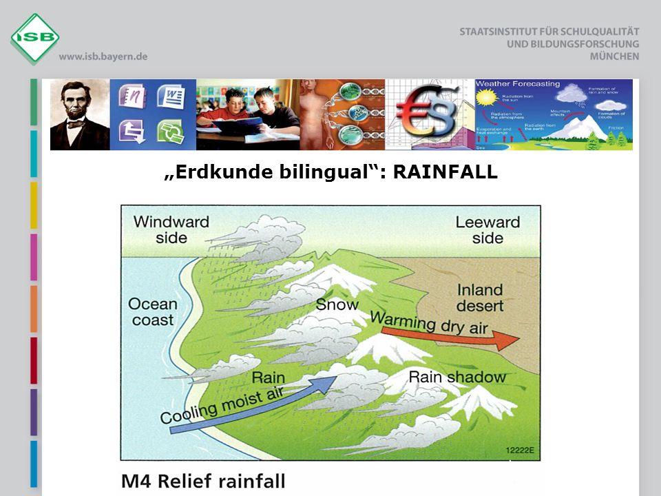 """Erdkunde bilingual : RAINFALL"