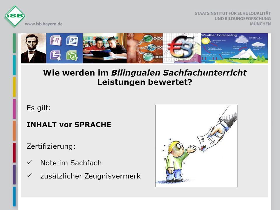 Wie werden im Bilingualen Sachfachunterricht Leistungen bewertet