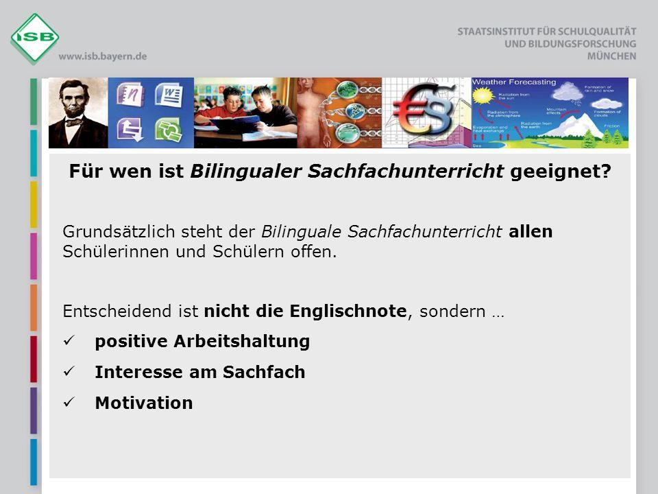 Für wen ist Bilingualer Sachfachunterricht geeignet