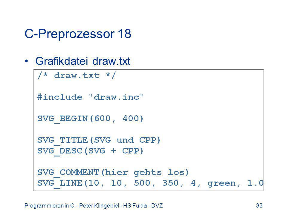 C-Preprozessor 18 Grafikdatei draw.txt