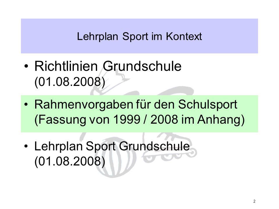 Lehrplan Sport im Kontext
