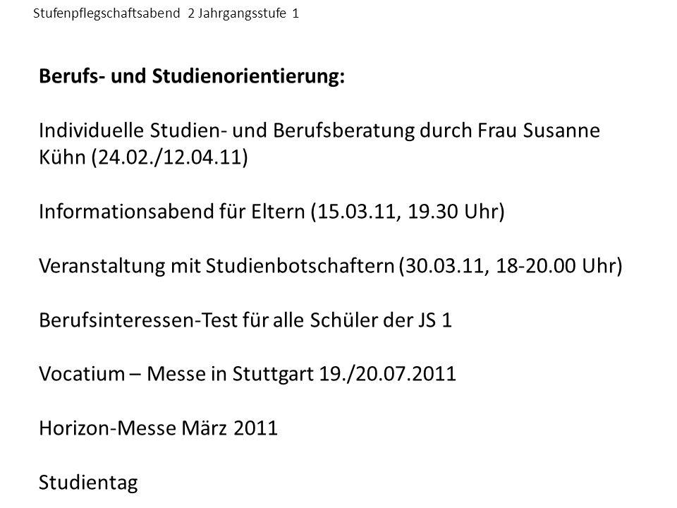 Berufs- und Studienorientierung:
