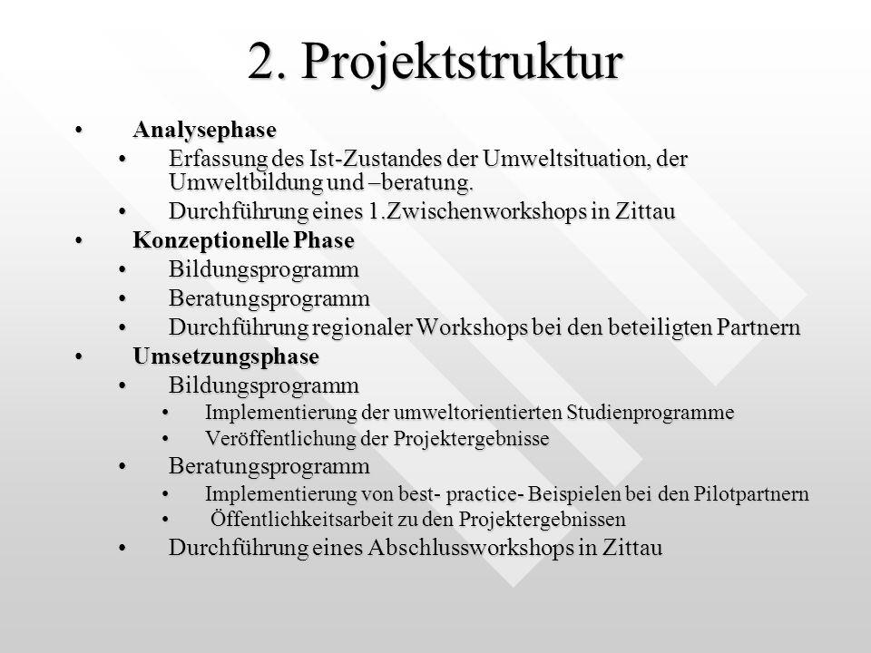 2. Projektstruktur Analysephase