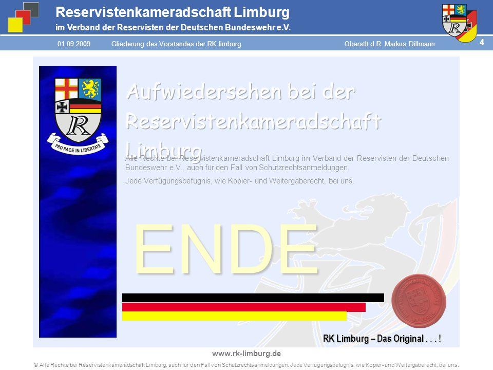 ENDE Aufwiedersehen bei der Reservistenkameradschaft Limburg