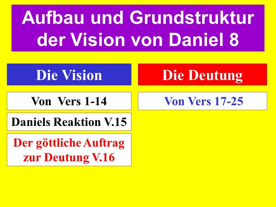 Aufbau und Grundstruktur der Vision von Daniel 8