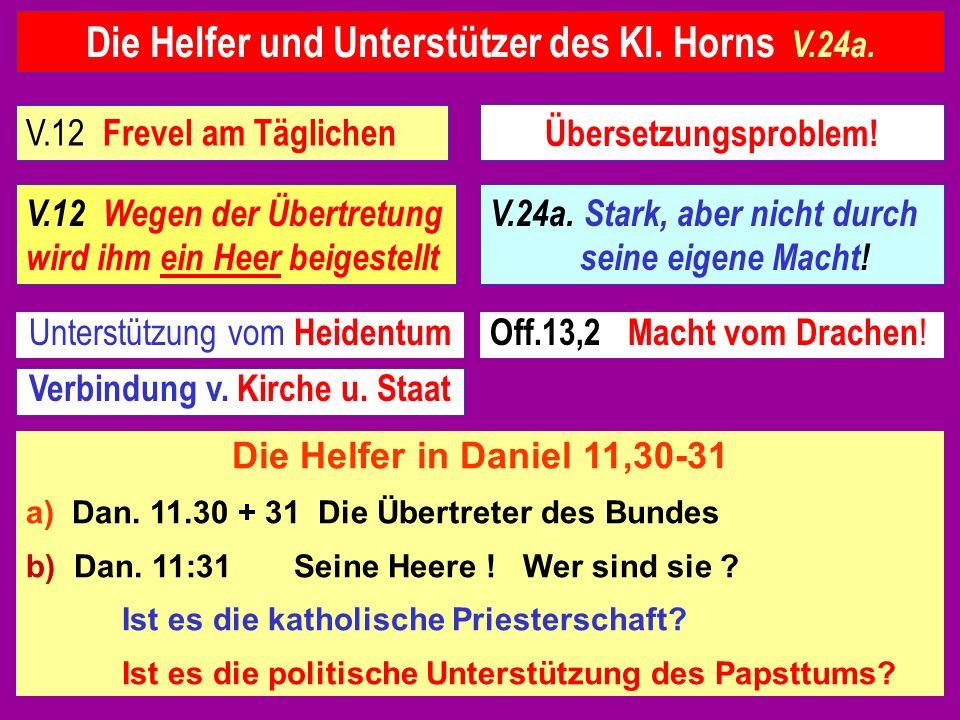 Die Helfer und Unterstützer des Kl. Horns V.24a.