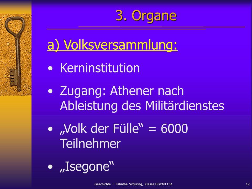 3. Organe a) Volksversammlung: Kerninstitution