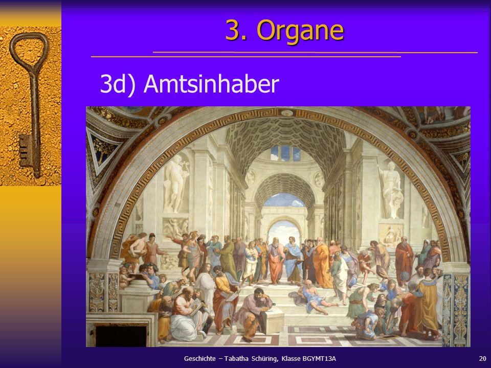 3. Organe 3d) Amtsinhaber