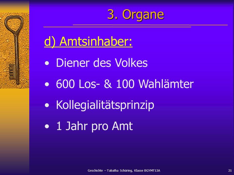3. Organe d) Amtsinhaber: Diener des Volkes 600 Los- & 100 Wahlämter