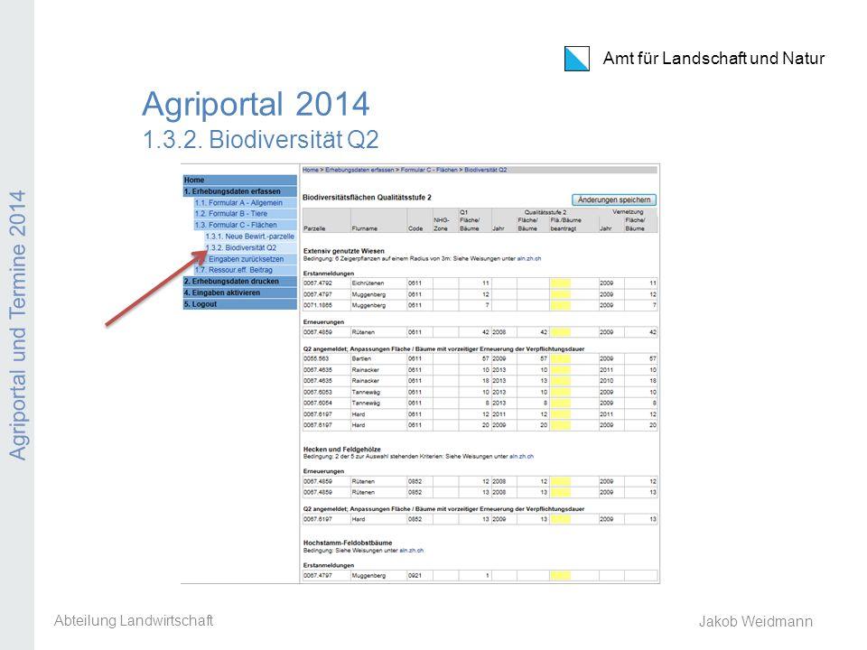 Agriportal 2014 1.3.2. Biodiversität Q2
