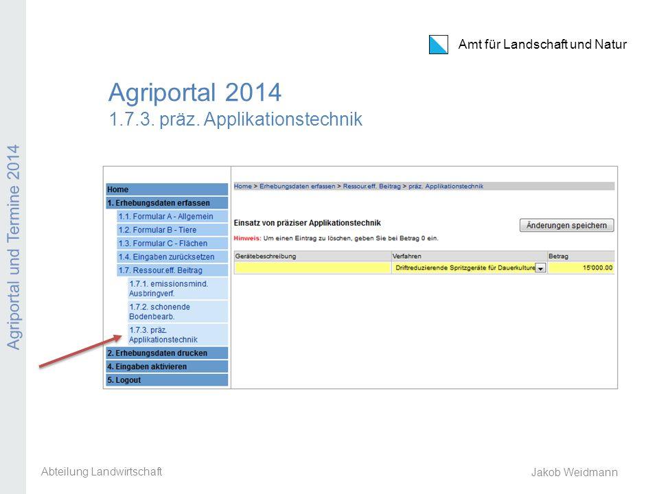 Agriportal 2014 1.7.3. präz. Applikationstechnik