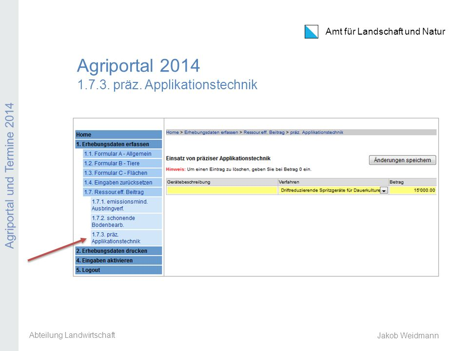 Agriportal präz. Applikationstechnik