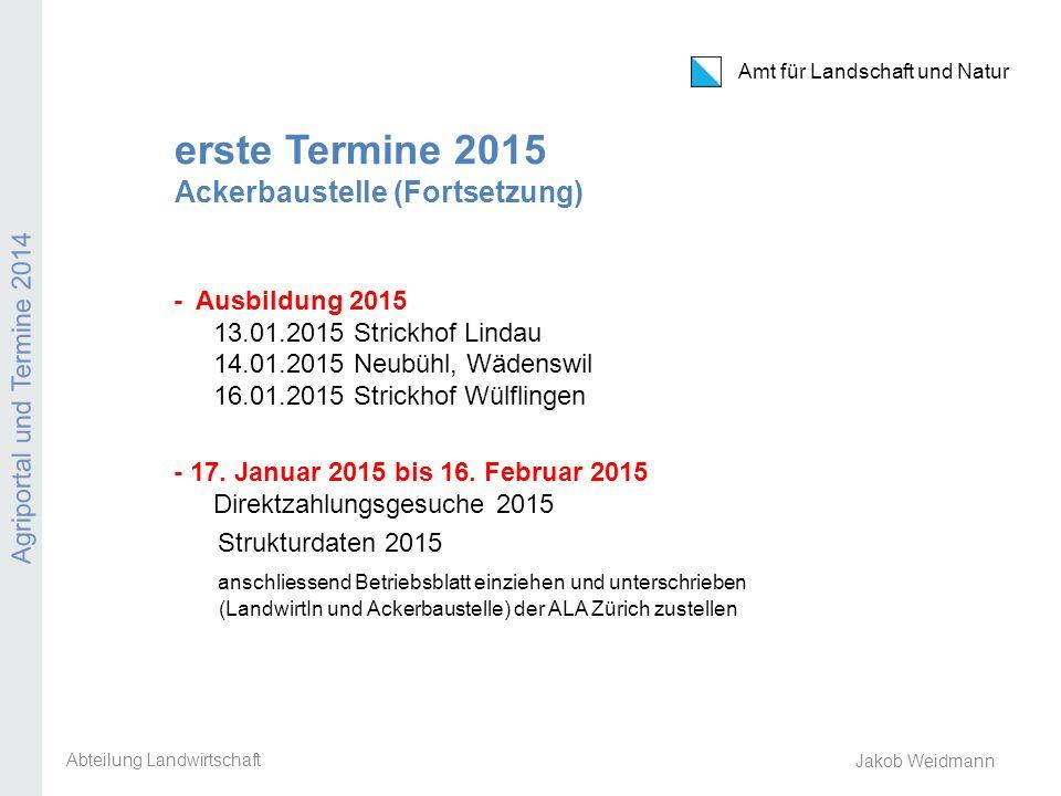 erste Termine 2015 Ackerbaustelle (Fortsetzung)