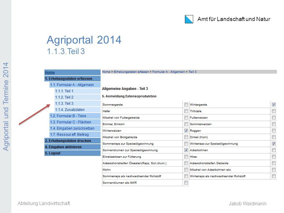 Abteilung Landwirtschaft