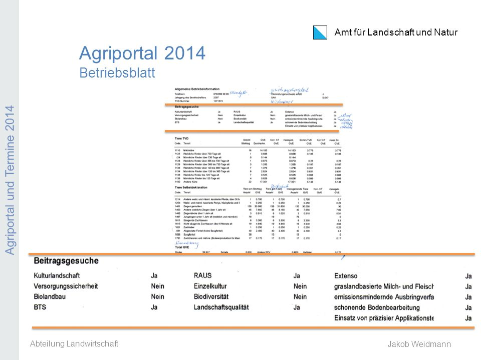 Agriportal 2014 Betriebsblatt