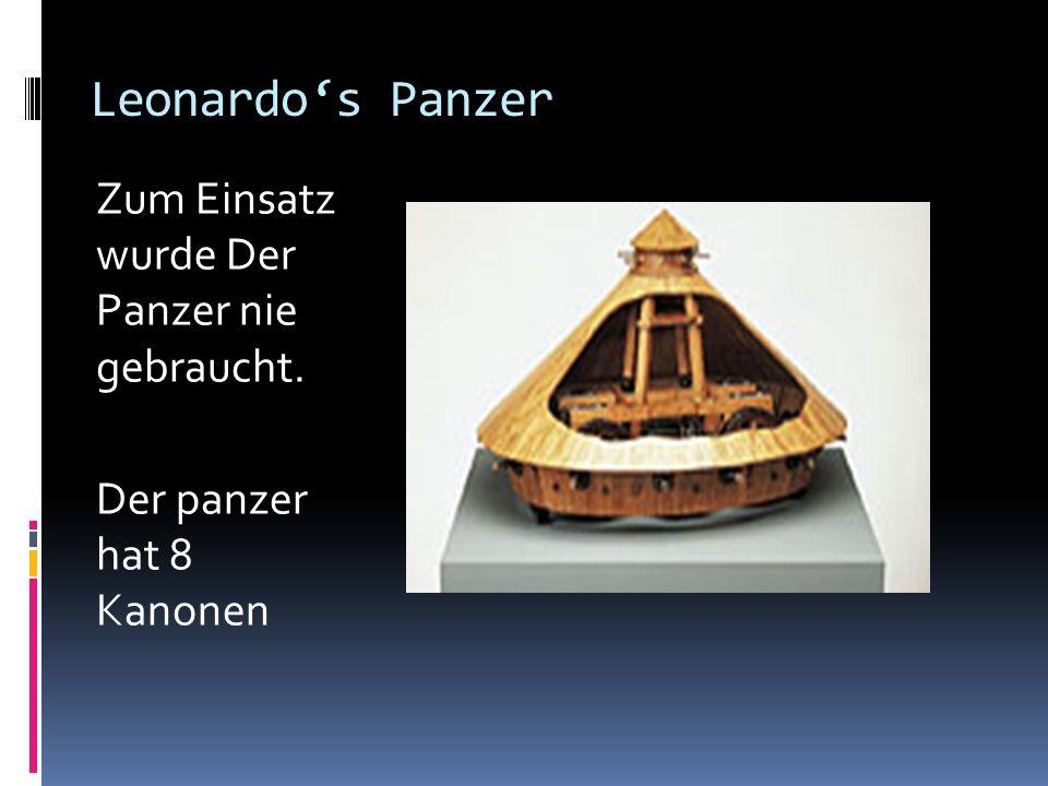 Leonardo's Panzer Zum Einsatz wurde Der Panzer nie gebraucht.