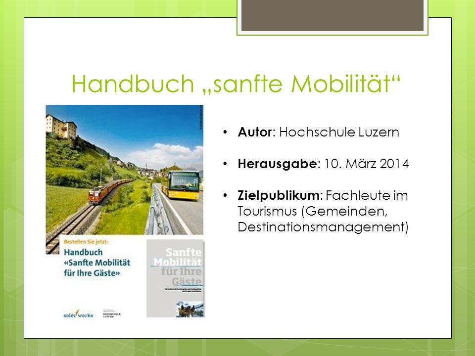 """Handbuch """"sanfte Mobilität"""