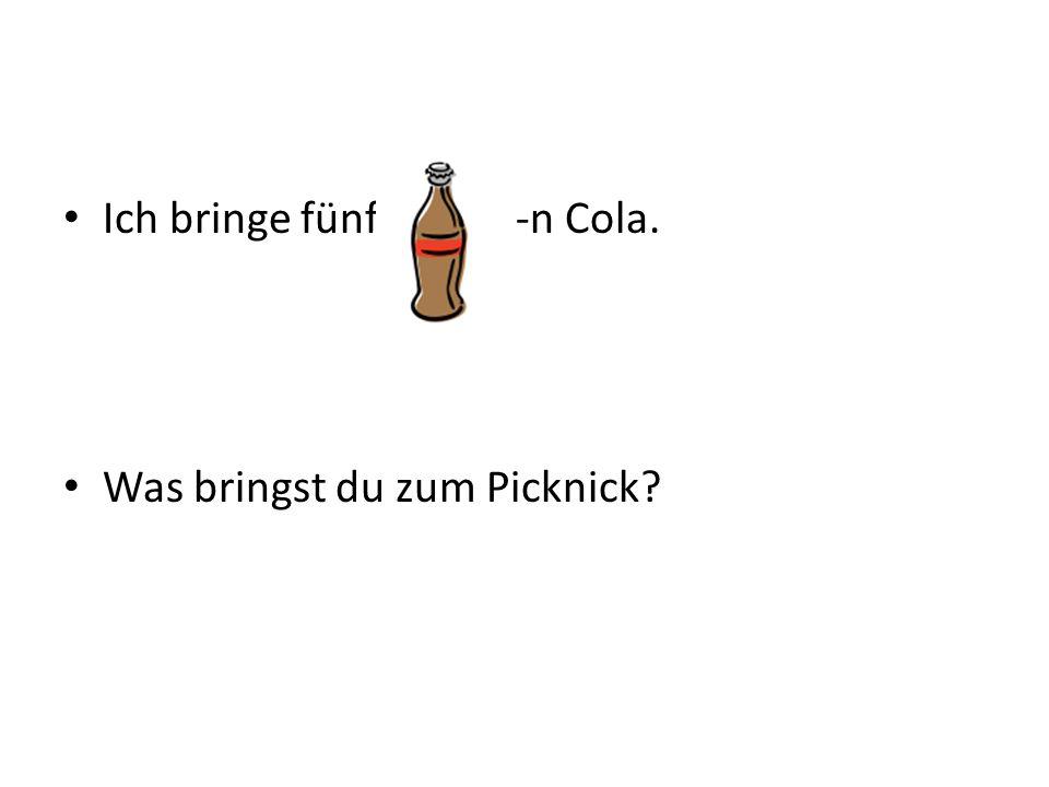 Ich bringe fünf -n Cola. Was bringst du zum Picknick