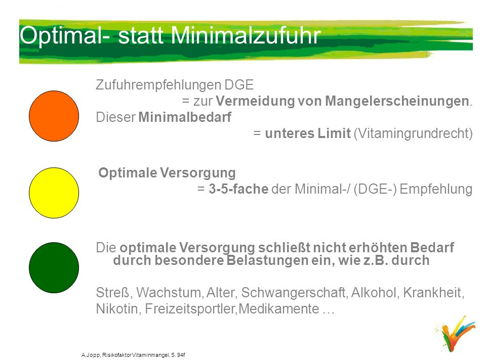 Optimal- statt Minimalzufuhr