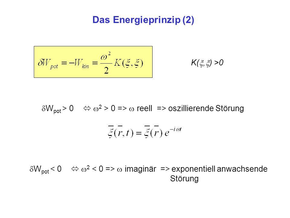 Das Energieprinzip (2) K(,) >0