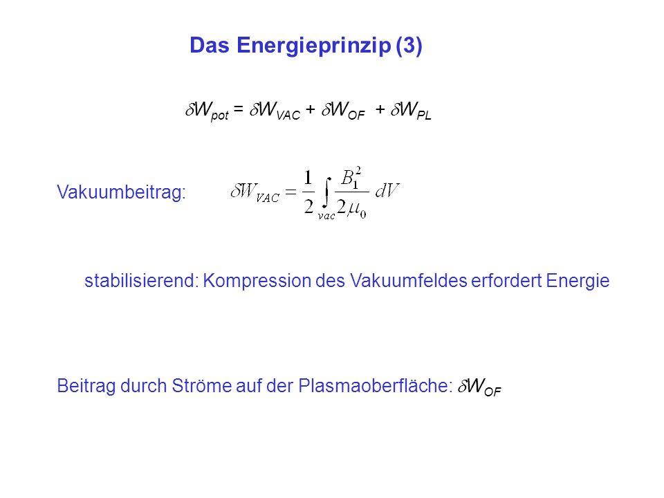 Das Energieprinzip (3) Wpot = WVAC + WOF + WPL Vakuumbeitrag: